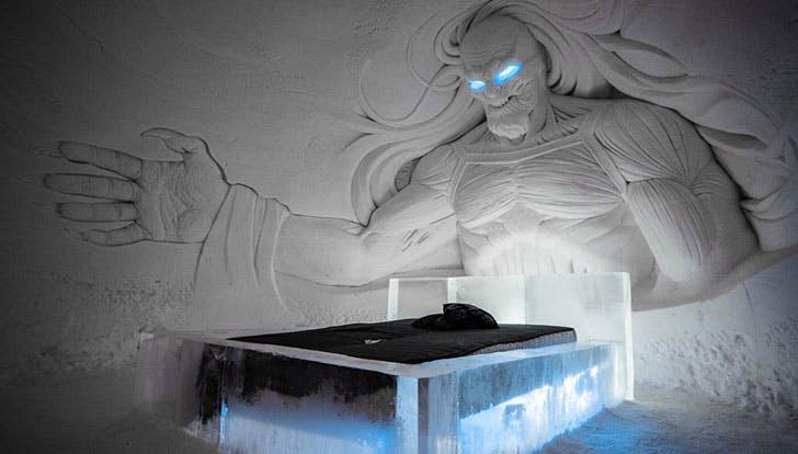 Game Thrones Ice Hotel White Walker bedroom