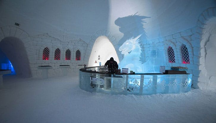 Game Thrones Ice Hotel ice bar