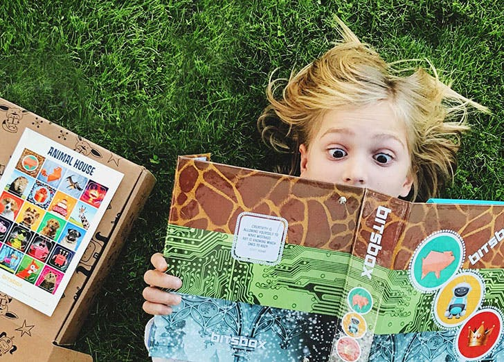 Girl using Bitsbox coding of the month club subscription box