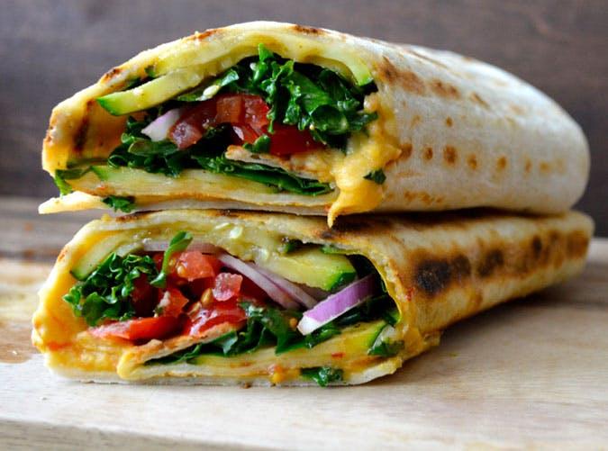 Grilled Zucchini Hummus Wrap Recipe