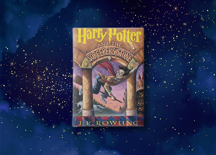 Harry Potter by J.K. Rowling book cover