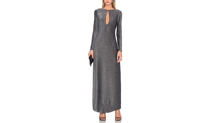House of Harlow silver maxi dress