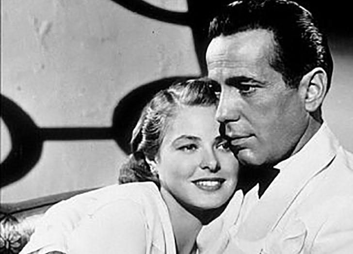 Ingrid Bergman and Humphry Bogart in Casablanca