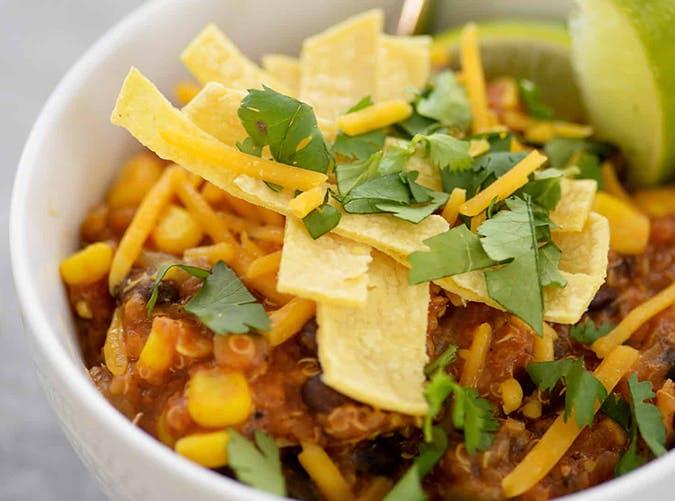 Instant Pot Quinoa Enchiladas macro diet recipes