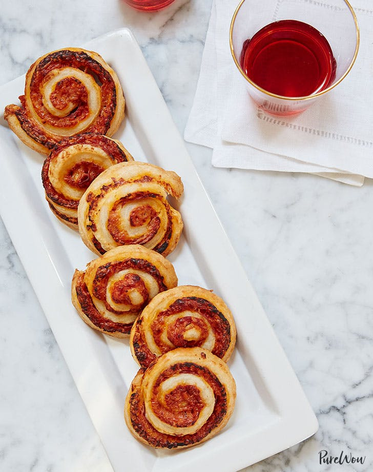 Italian pinwheel pastry appetizer