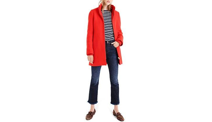 J.Crew Red Coat