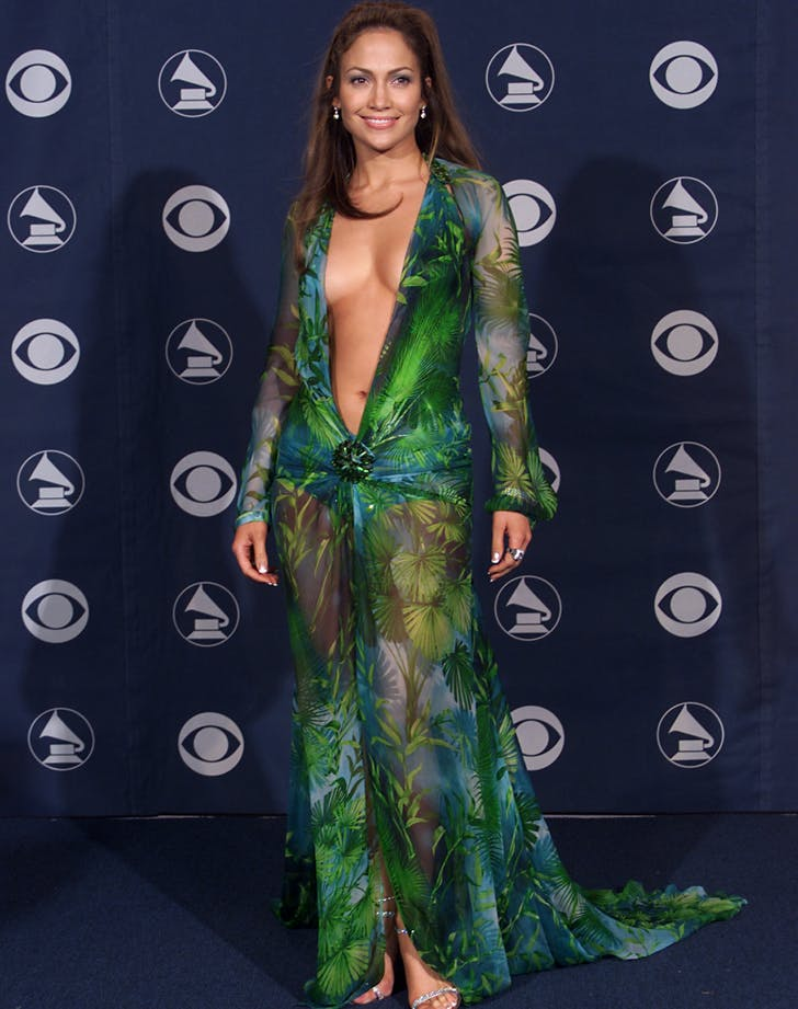 J. Lo Grammys green dress