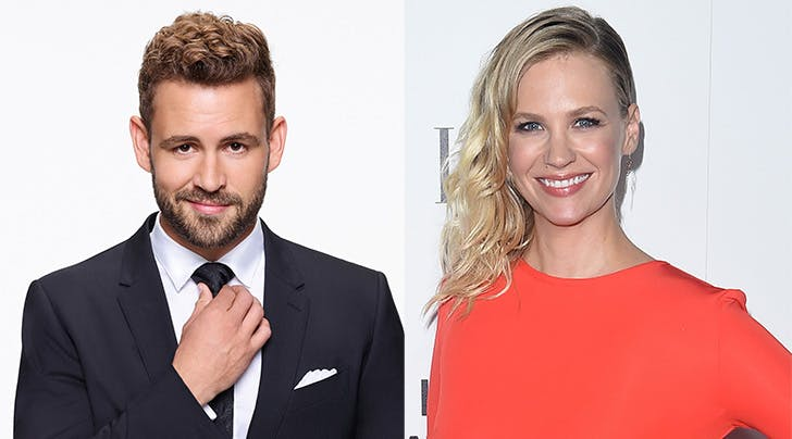 Calm Yourselves, January Jones & Nick Viall Arent Actually Dating