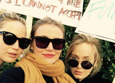 Jennifer Lawrence Adele Cameron Diaz women s march.c
