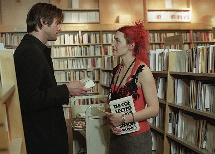 Jim Carrey and Kate Winslet in Eternal Sunshine of the Spotless Mind film still