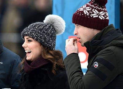 df9b276cb Winter Is Brutal, but Kate Middleton's Pom-Pom Beanie Makes It a ...