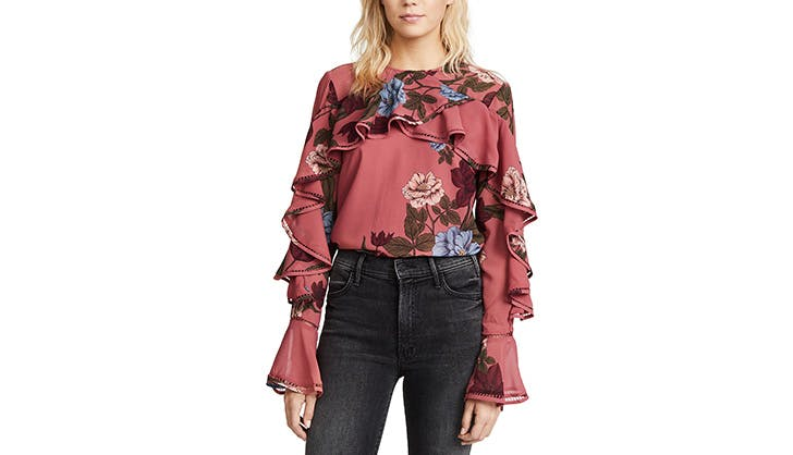 Keepsake Floral Laser Cut Blouse