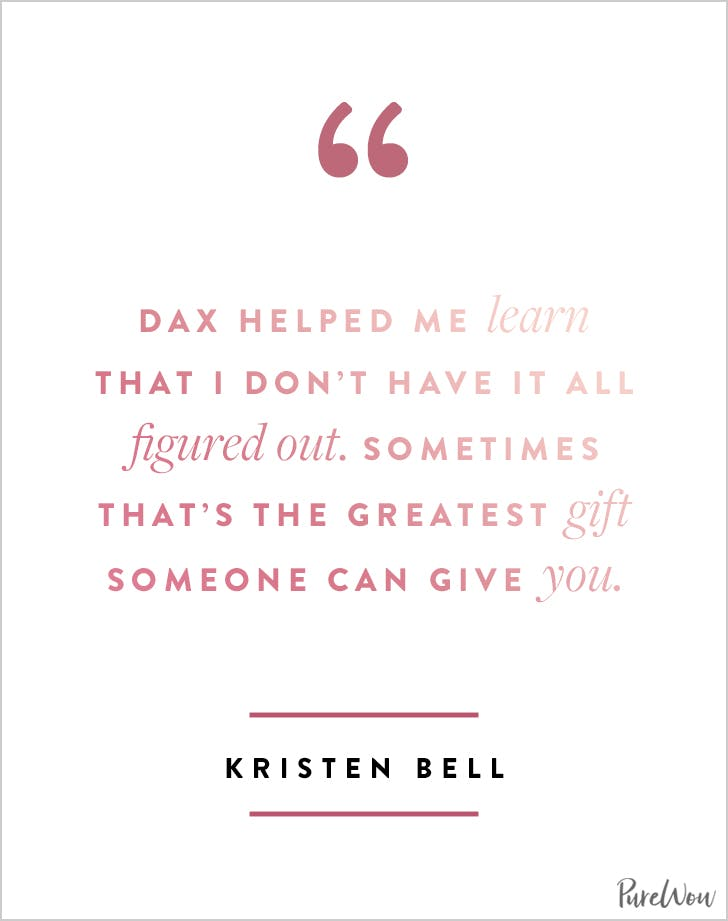Kristen Bell Quotes about Dax and Love