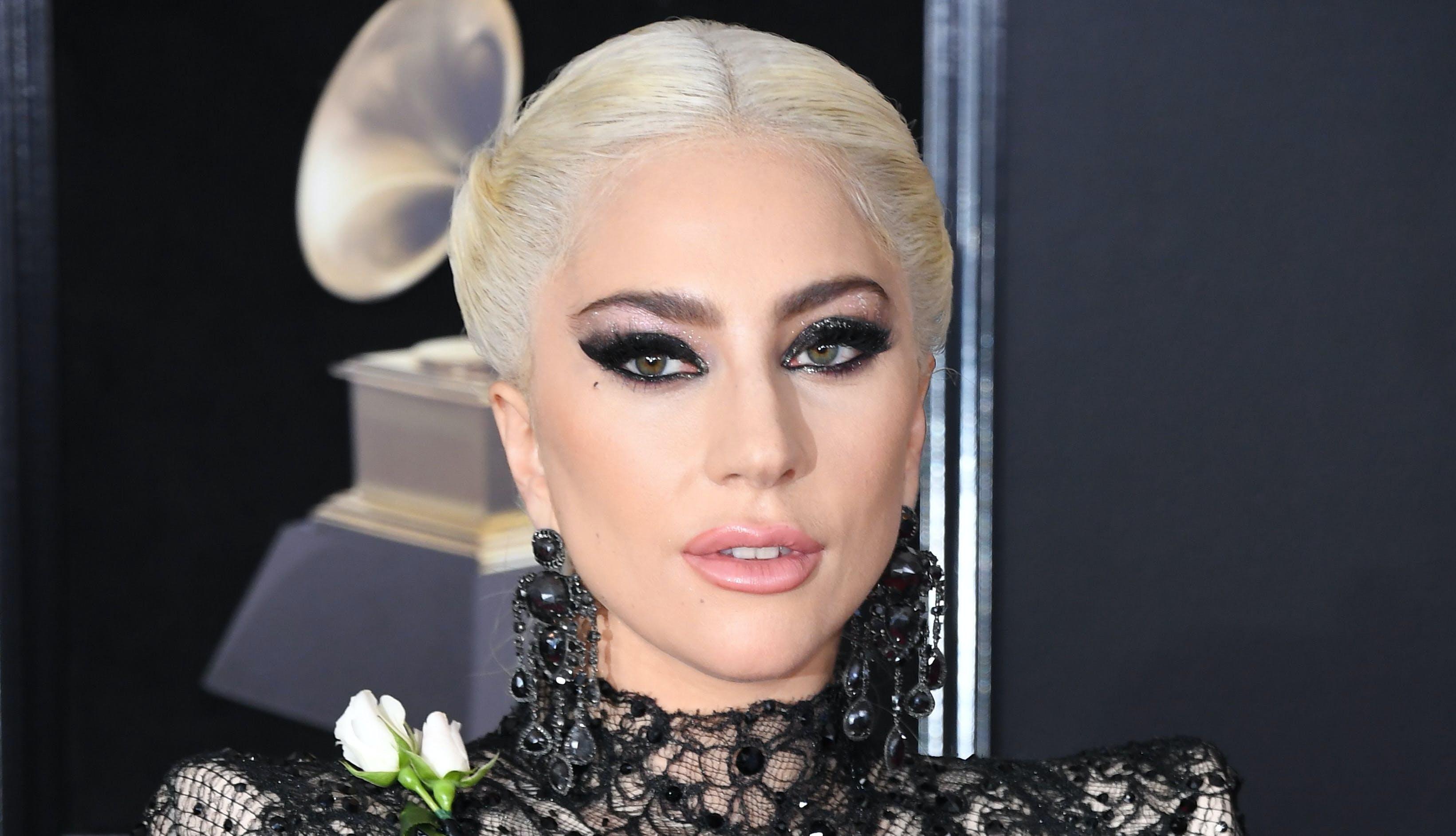 Lady Gaga Grammy awards red carpet look 2