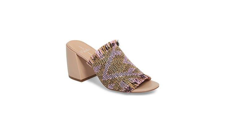 Linea Paolo fringe block heels