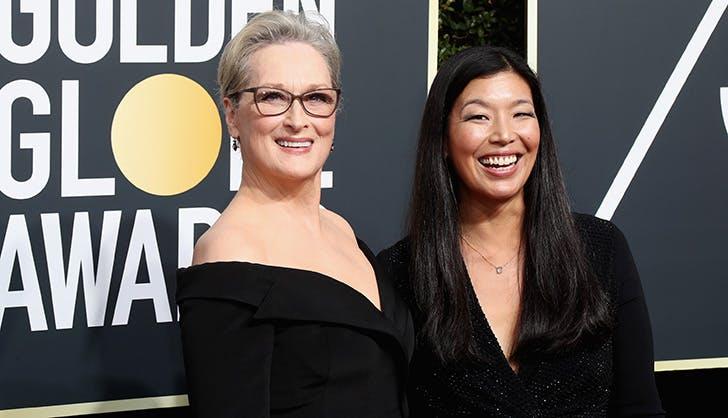 Meryl Streep Ai Jen Poo Golden Globes