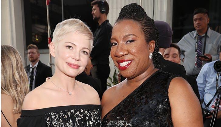 Michelle Williams Tarana Burke Golden Globes