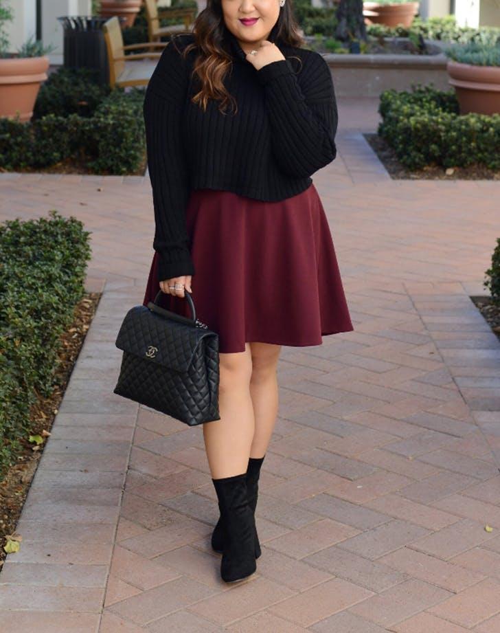 Mini Skirt Sock Boots