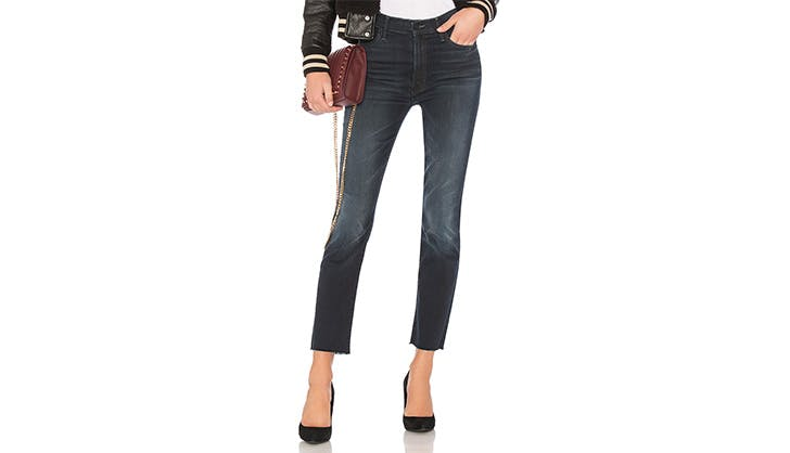 Mother Dark Denim Cropped Jeans