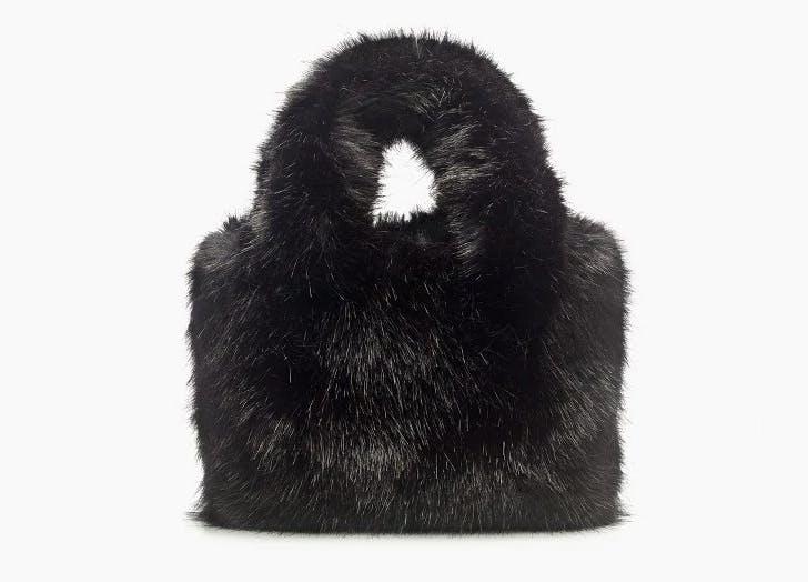 NY furry mini tote