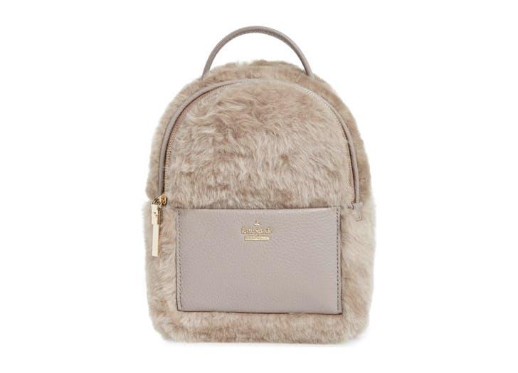 NY shearling backpack