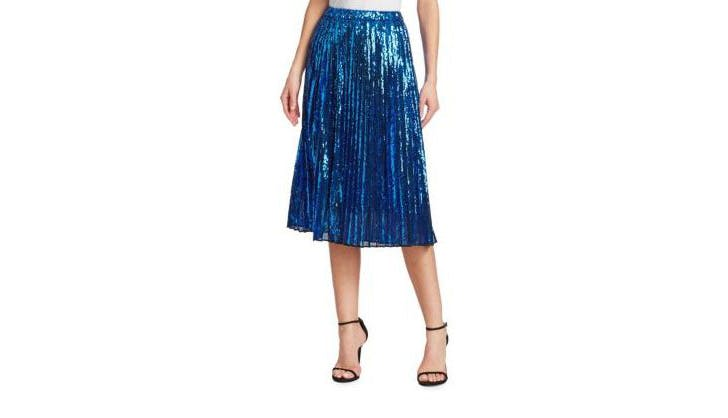 No. 21 Glitter Pleated Skirt
