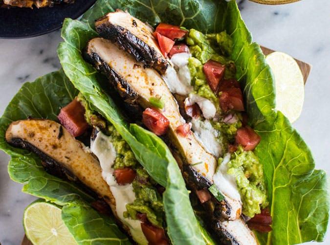 Paleo Harissa Portobello Mushroom Tacos