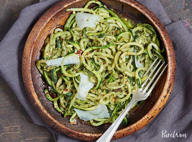 Pesto Zucchini Noodles Zoodles Recipe