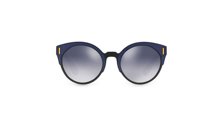Prada mirrored colorblock sunglasses