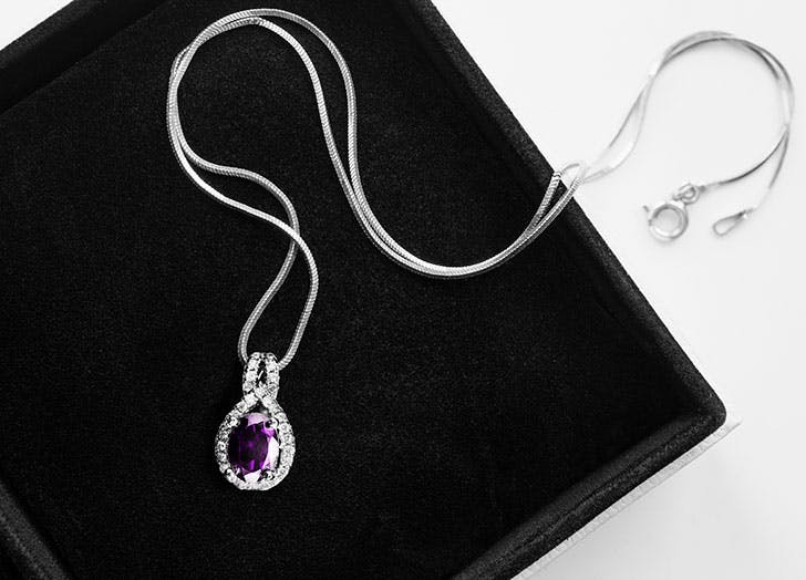 Purple amethyst pendant necklace1