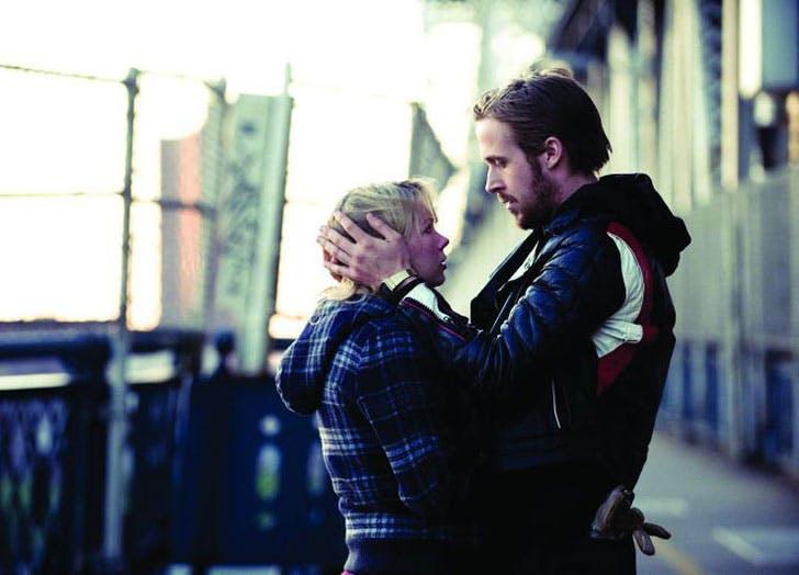 Ryan Gosling and Michelle Williams in Blue Valentine romantic tragedy film