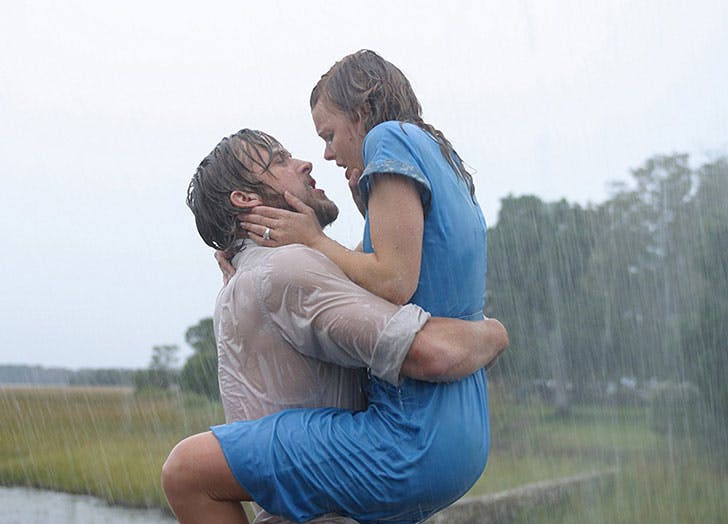 Ryan Gosling and Rachel McAdams in most romantic film ever The Notebook