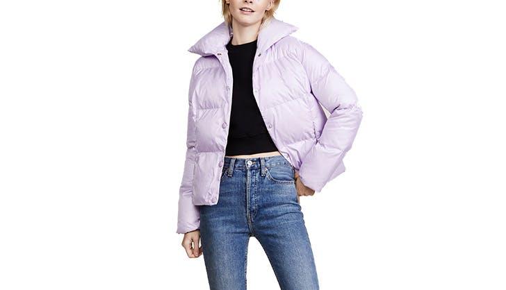 Shopbop Lionesss Lilac Puffer Coat