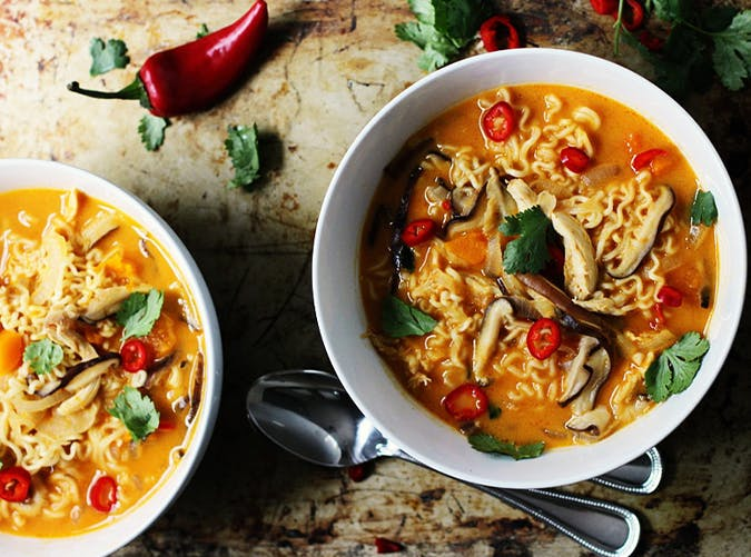 Spicy Thai Style Pumpkin and Butternut Ramen recipe