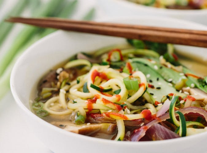 Spiralized Vegan Ramen Soup with Zucchini recipe
