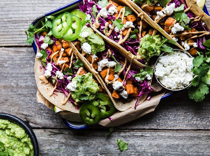 Sweet Potato Tacos vegetarian comfort food recipes