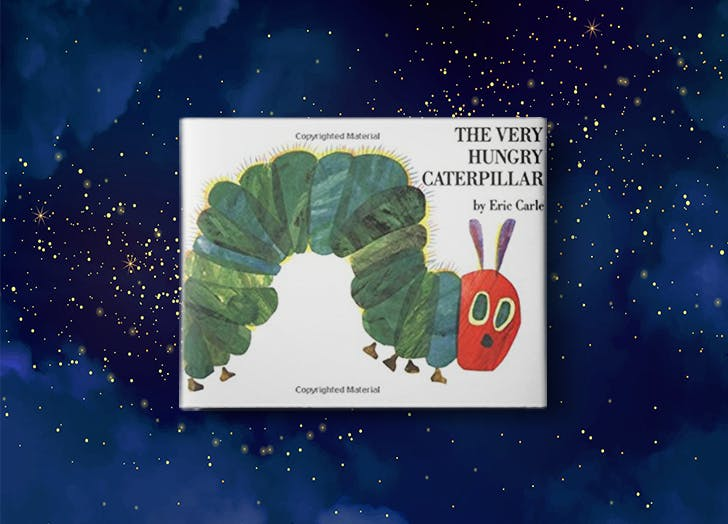 The Very Hungry Caterpillar by Eric Carle bedtime story