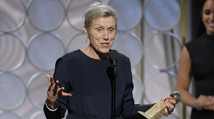 Golden Globes: Frances McDormand Gets Bleeped for 'Fox Searchlight,' but Not 'Shite'