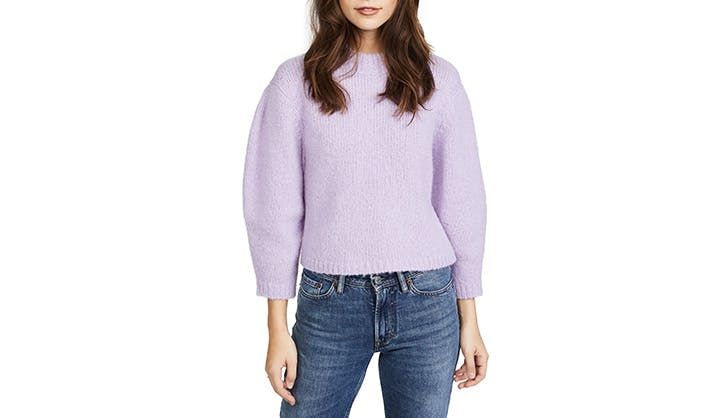Tibi Lilac cropped sweater