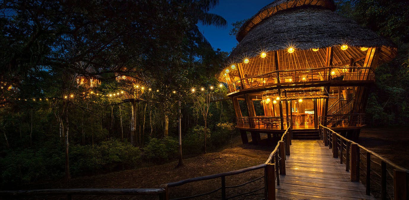 Treehouse Lodge  Peru south american eco resorts