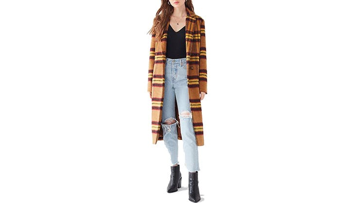 Urban Outfitters Plaid Topper