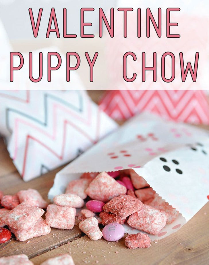 Valentine Puppy Chow Chex Mix Crafts for Kids