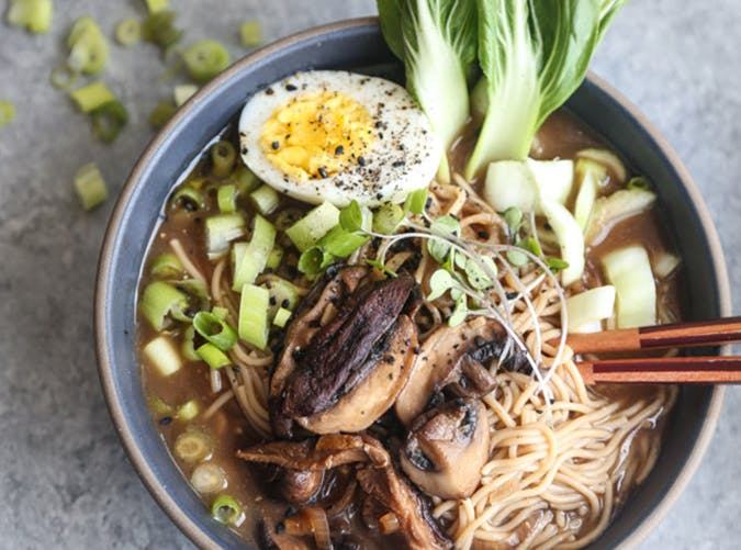 Vegetarian Miso Mushroom Ramen with Bok Choy recipe