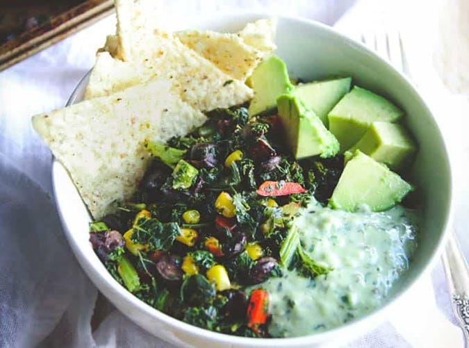 Vegetarian Sheet Pan Mexican Kale Salad recipe