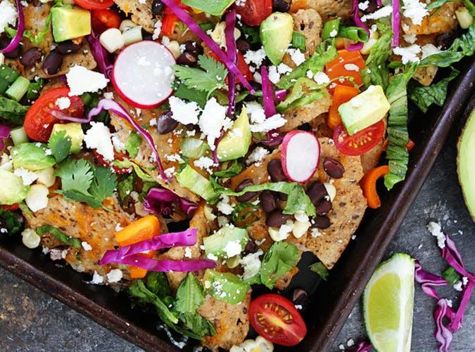 Veggie Sheet Pan Nachos vegetarian recipes