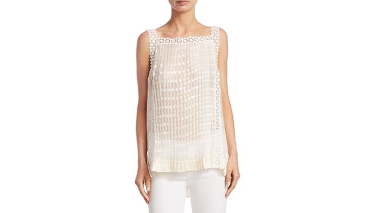 Zimmerman white crochet lace top