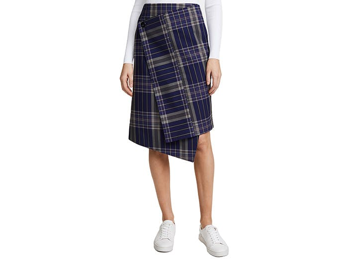 acne plaid skirt