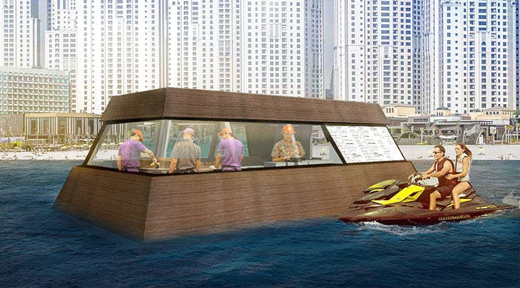 You Can Now Order Burgers from a Floating Food Truck (Via Jet Ski, of Course)
