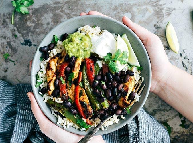 best ever chicken fajita bowls