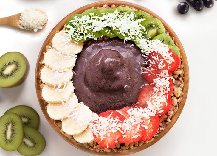 boxing instructor food diary acai